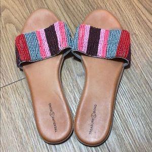 Treasure & Bond Beaded Sandals Size 10